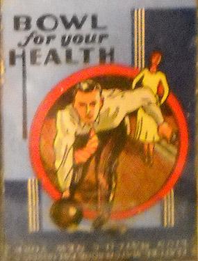 Art on matchbox cover