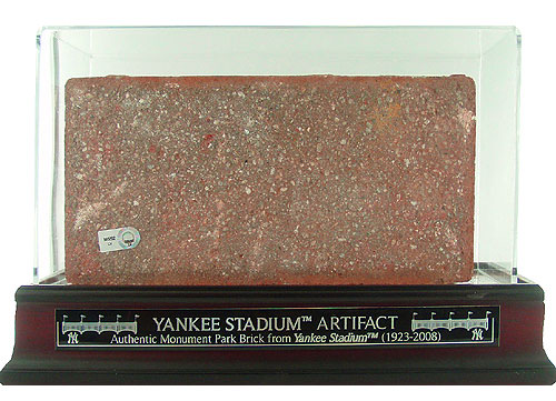 Encased brick from Yankee Stadium