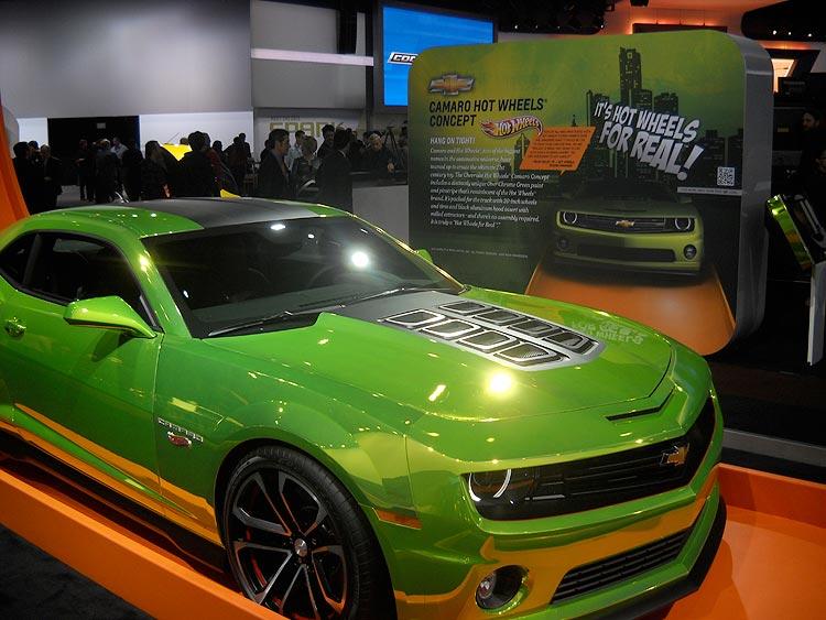chrome green chevrolet hot wheels camero concept car - Real Hot Wheels Cars