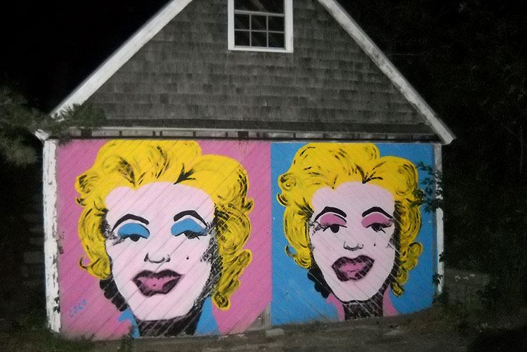Double Marilyn Monroe portrait in the style of Andy Warhol, Provincetown