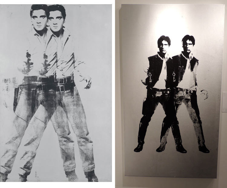 Andy Warhol's Double Elvis, and RYCA's Double Han Solo