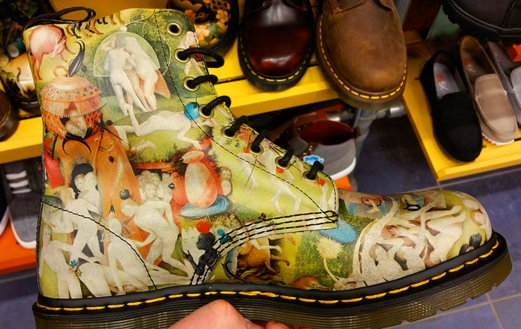 the art of Hieronymus Bosch on Doc Marten boots