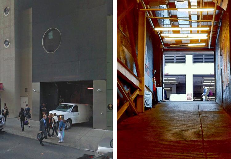 art by Haculla in parking garage near Maritime Hotel
