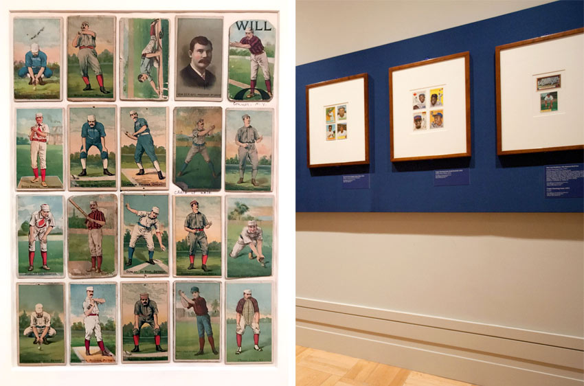baseball cards from the Burdick Collection at the Metropolitan Museum of Art