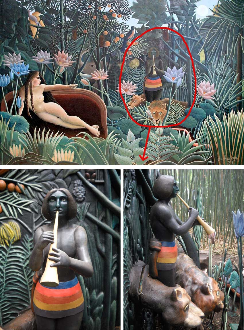 J. Seward Johnson sculpture based on Henri Rousseau's The Dream painting