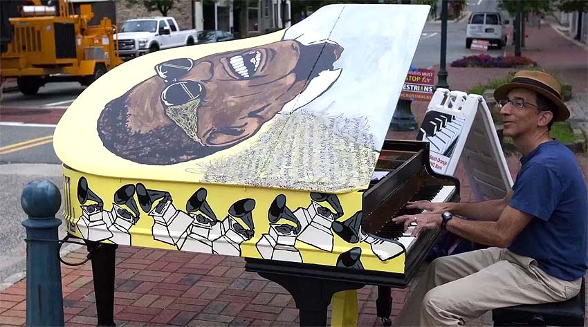 SOPAC piano project with Ray Charles image by Lawrence Ciarallo