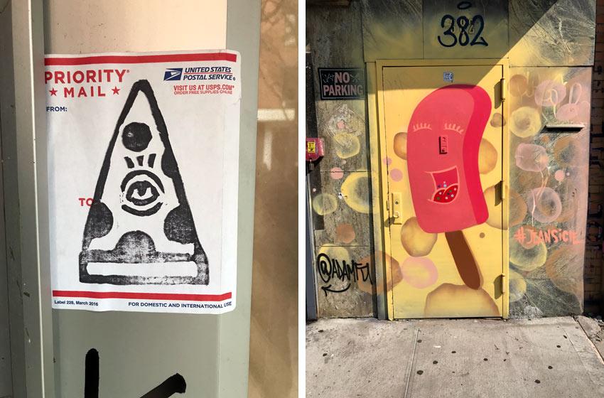 anthropomorphic food street art
