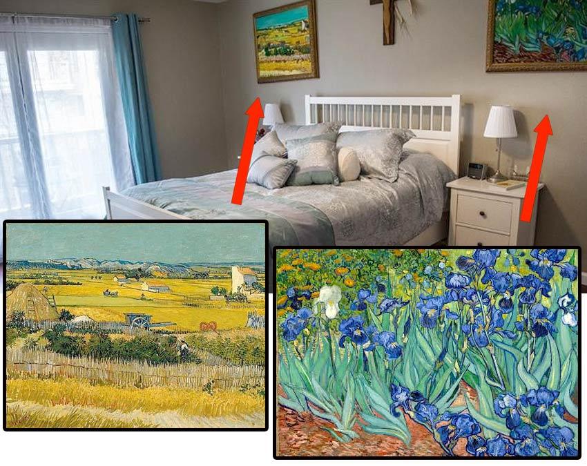 Van Gogh copies at a condo in South Orange