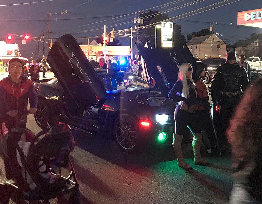Batman impersonator at a street fair in Belleville NJ