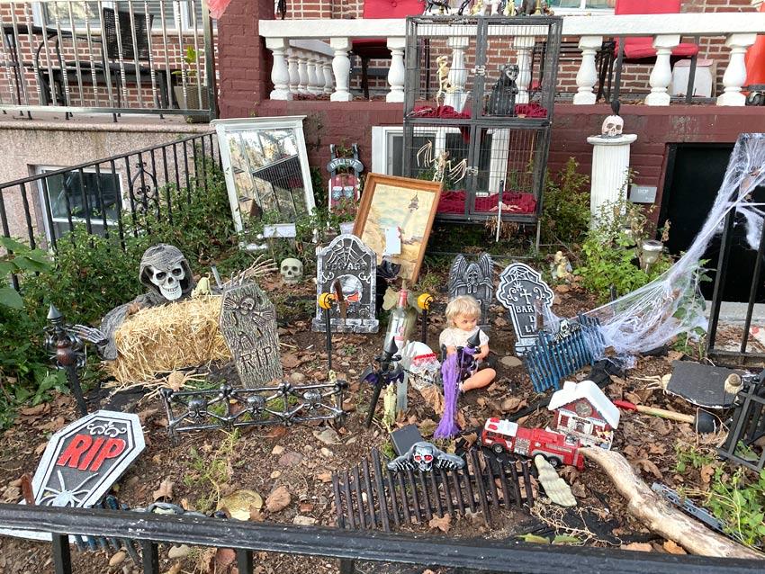 Halloween decorations in Bay Ridge, Brooklyn