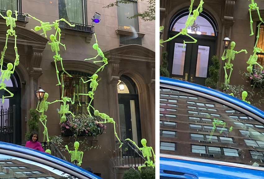 Halloween decorations attack of the skeletons NYC