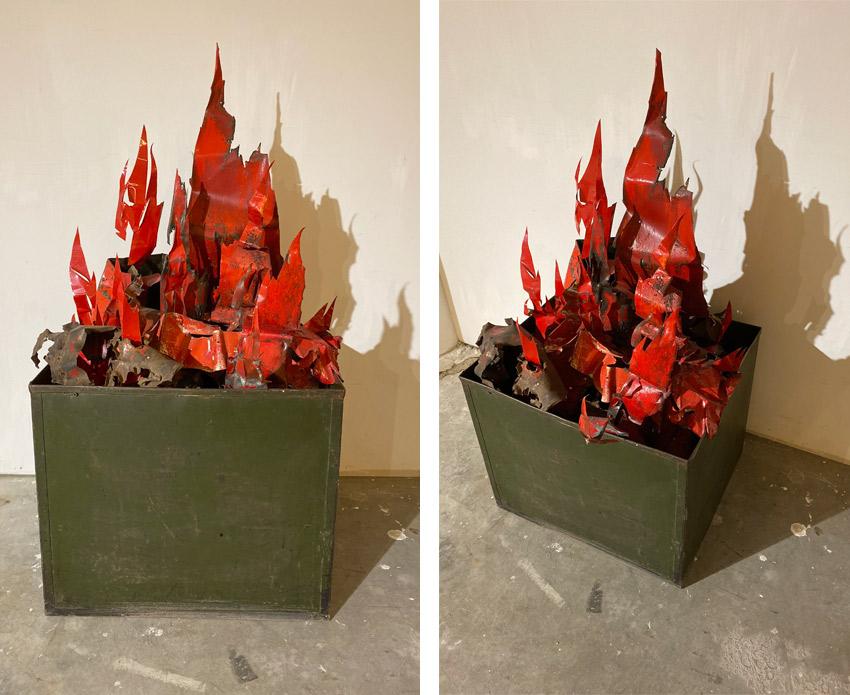 Paolo Pelosini fire sculpture