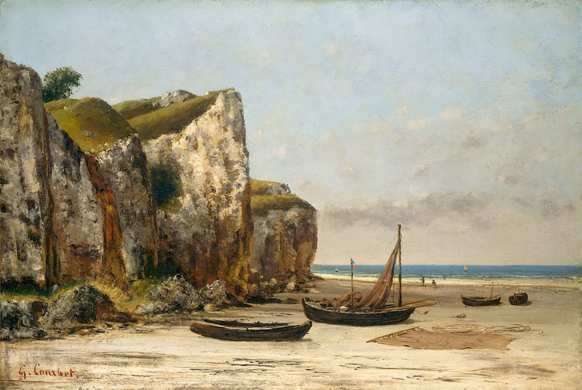 Gustave Courbet Beach in Normandy before climate change