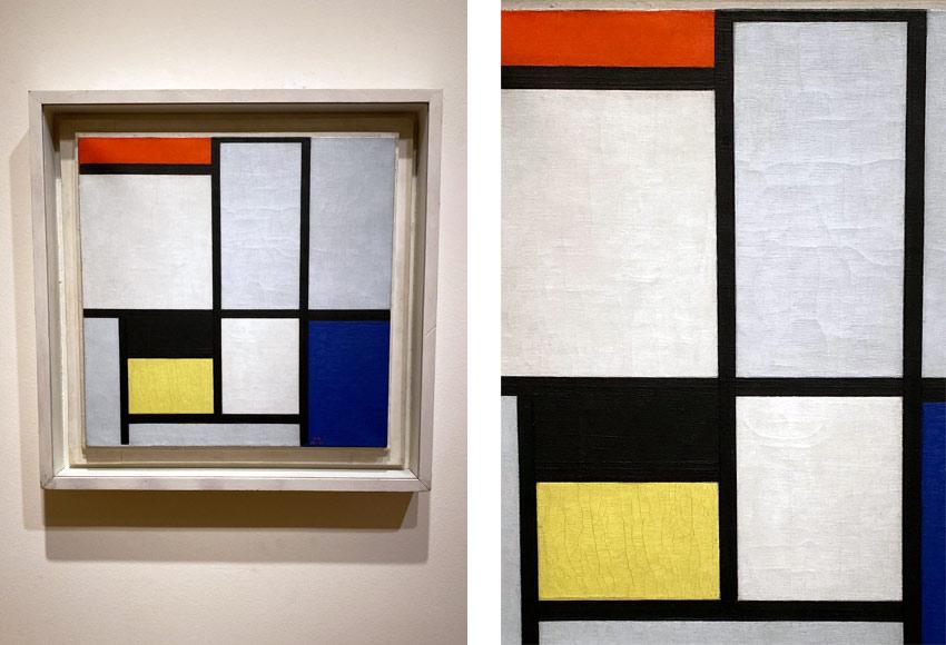 Mondrian repainted canvas 1925