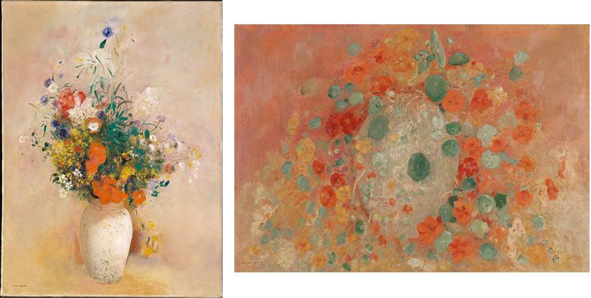 Odilon Redon flower paintings