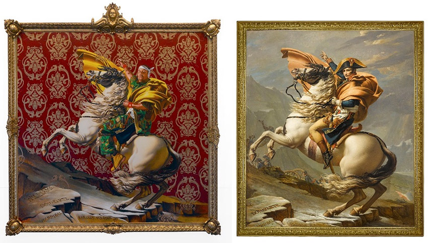 Kehinde Wiley and Jacques Louis David paintings