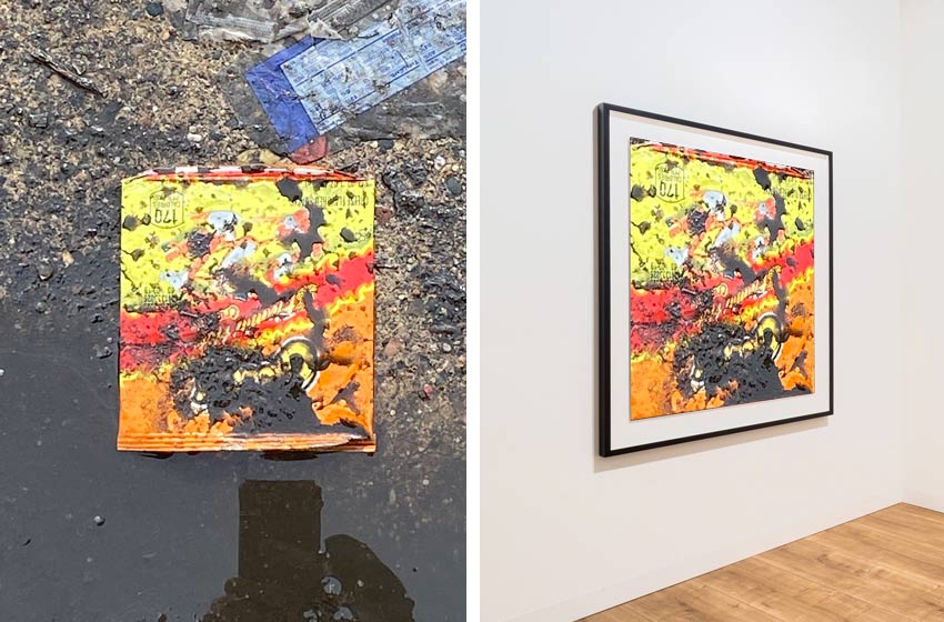 Cheetos Flamin Hot garbage transformed into fine art
