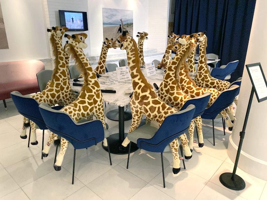 Giraffe UN Summit art installation by Pascal Blondeau
