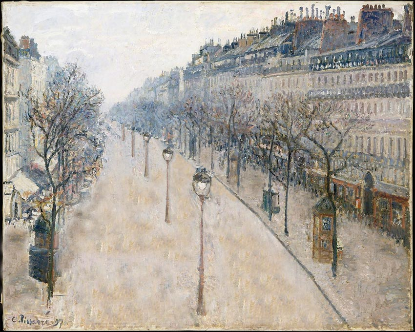 Pissarro Boulevard Montmartre without people