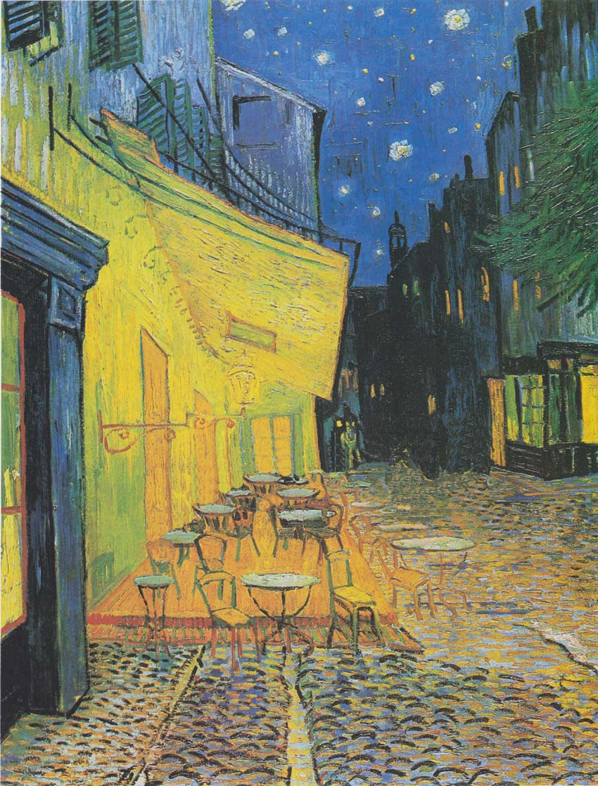 Van Gogh Cafe Terrace at Night with no people