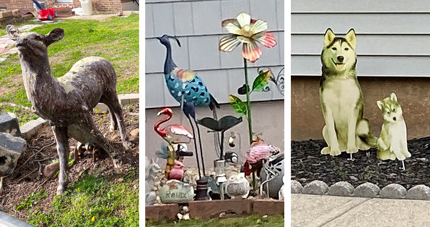 animal sculptures lawn decorations