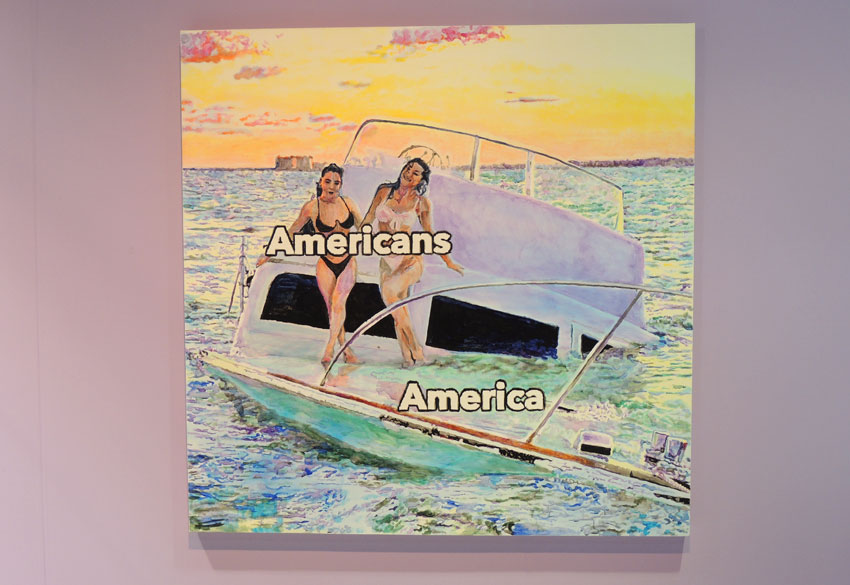 Painting by Christine Wang titled Americans