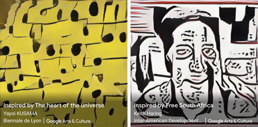 Google Art Transfer images inspired by kusama and haring