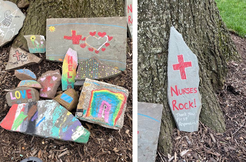 painted rocks for covid-19 first responders and nurses
