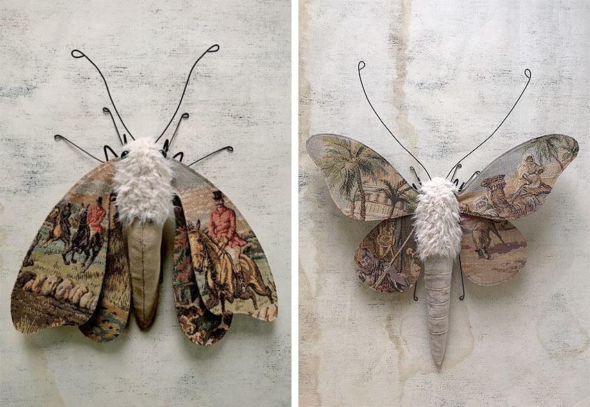 Larysa Bernhardt moth sculptures