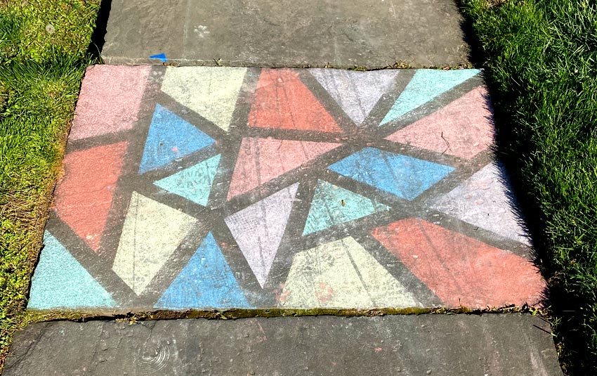 chalk drawing stained glass style
