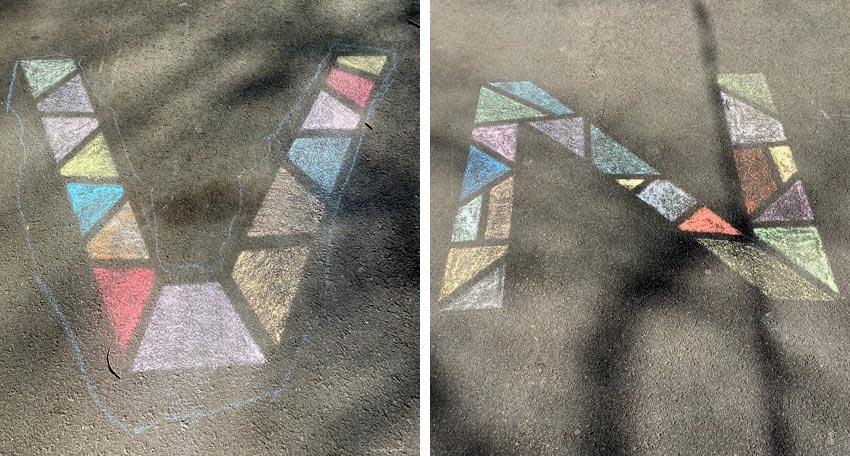 chalk drawings in Paramus NJ