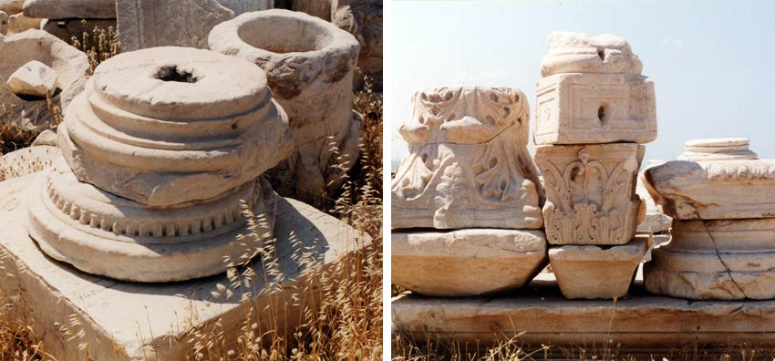 Ancient Greek architecture ruins near the Acropolis