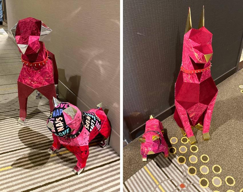 Heemin Moon Dog Sculptures