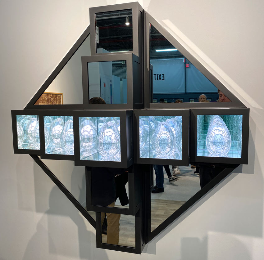 Josiah McElheny sculpture at the 2020 Armory Show
