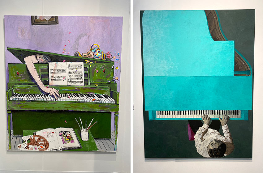 paintings of pianos