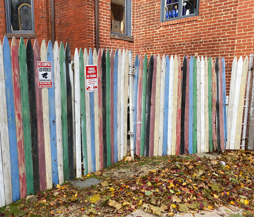 Gene Davis inspired striped fence Washington DC