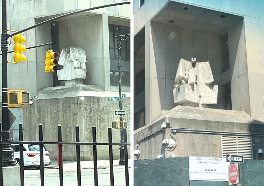 Constantino Nivola sculpture Bronx Courthouse