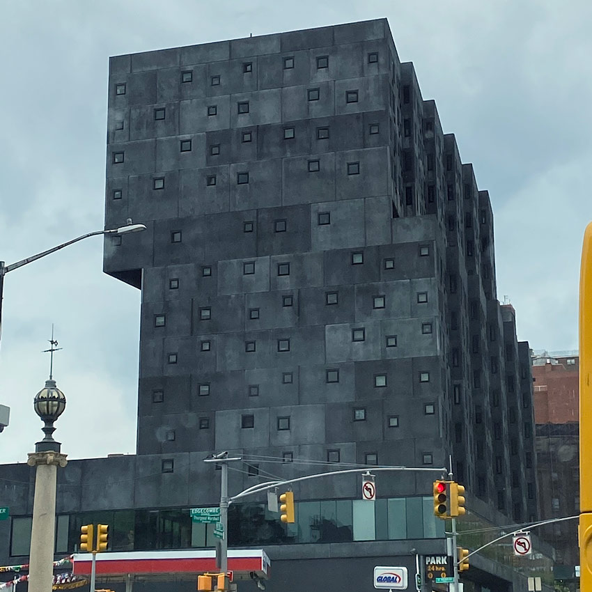 David Adjaye designed architecture in Sugar Hill, Harlem, NYC