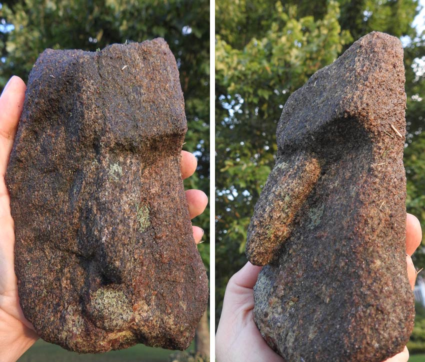 rock art found in Georgia that looks like Easter Island heads