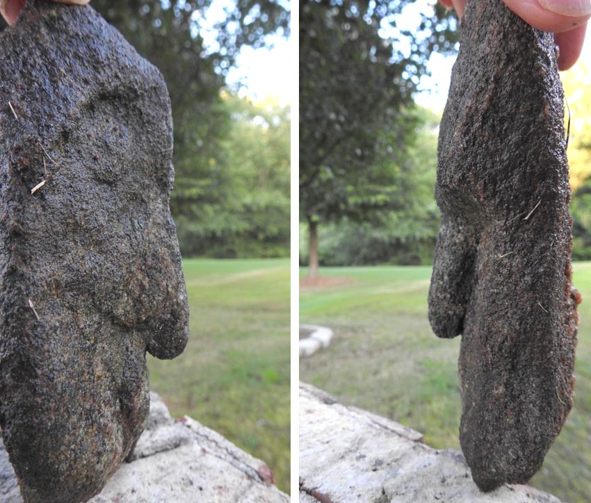 rock art head found in Georgia