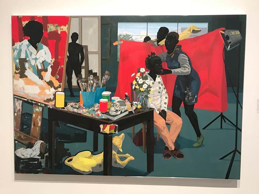 Kerry James Marshall Untitled Studio painting