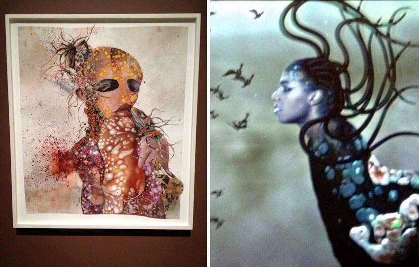 Wangechi Mutu at the Brooklyn Museum in 2014