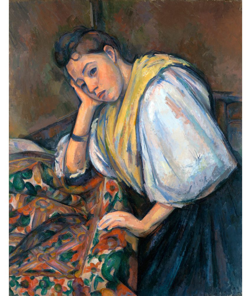 Paul Cezanne portrait of an Italian woman