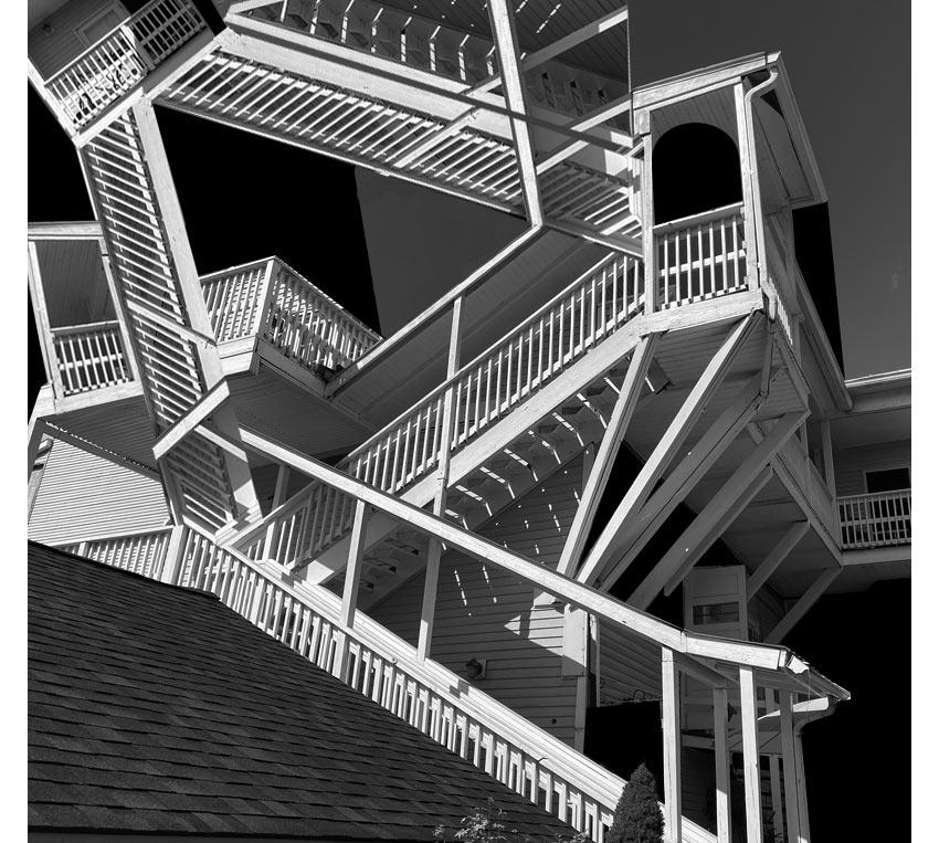 My own version or interpretation of M.C. Escher Relativity using architecture in Callicoon