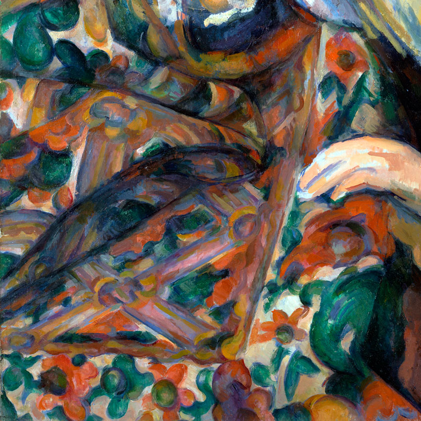 Paul Cezanne tablecloth detail