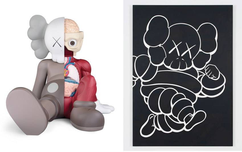 art by KAWS at the Brooklyn Museum in 2021