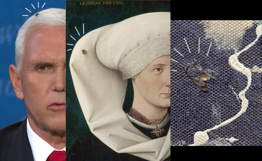 Mike Pence fly and flies in art history