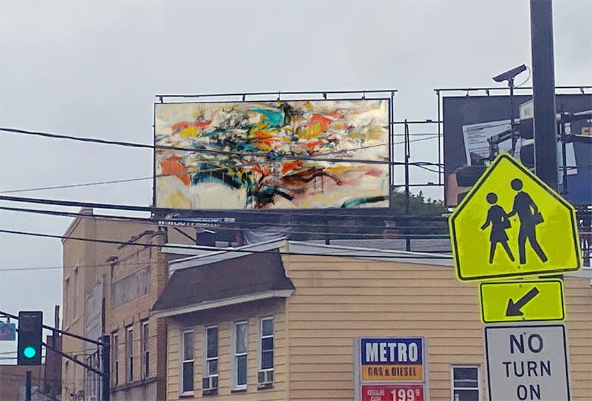 abstract expressionist billboard Belleville NJ