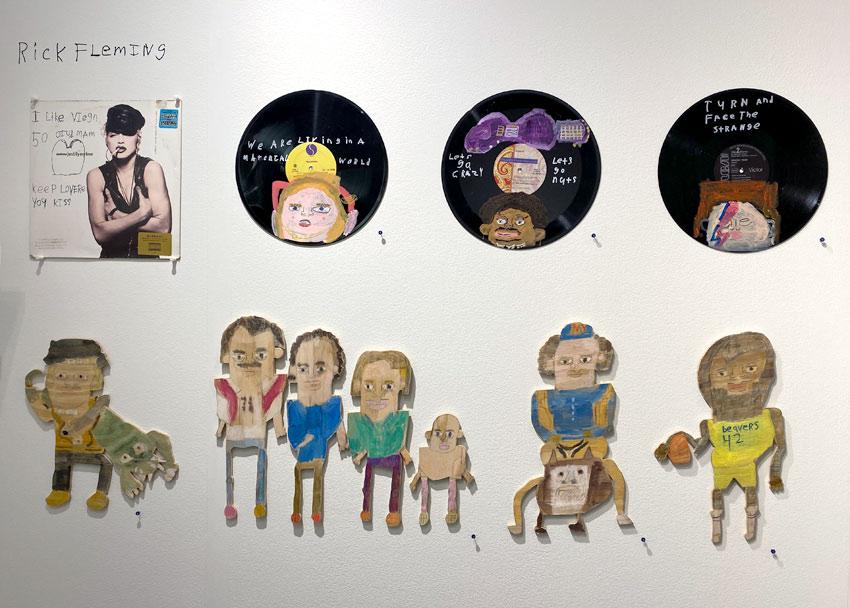 Rick Fleming art at the Outsider Art Fair in 2020