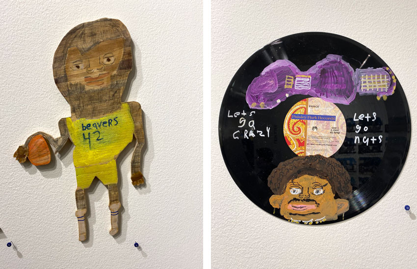 Rick Fleming Outsider Art Fair Teen Wolf and Prince art works